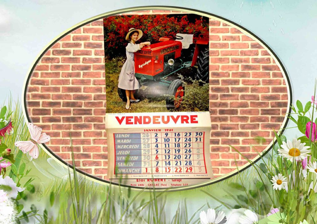 Calendrier Vendeuvre 1961.