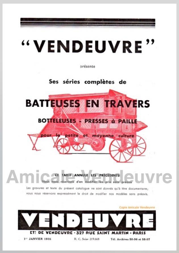 BA 2001 Pdf Catalogue batteuses 1935