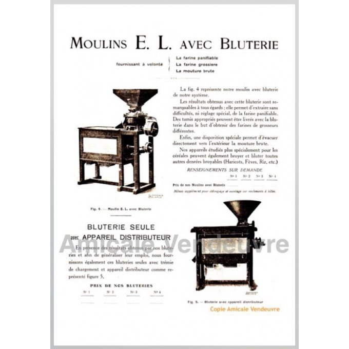 INS 5004 Pdf Documentation moulin, bluterie 1925