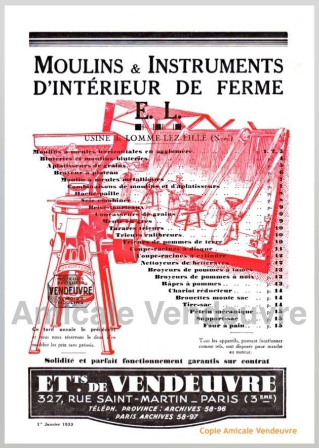 PaINS 5009 Cat. instruments de cour de ferme 1933