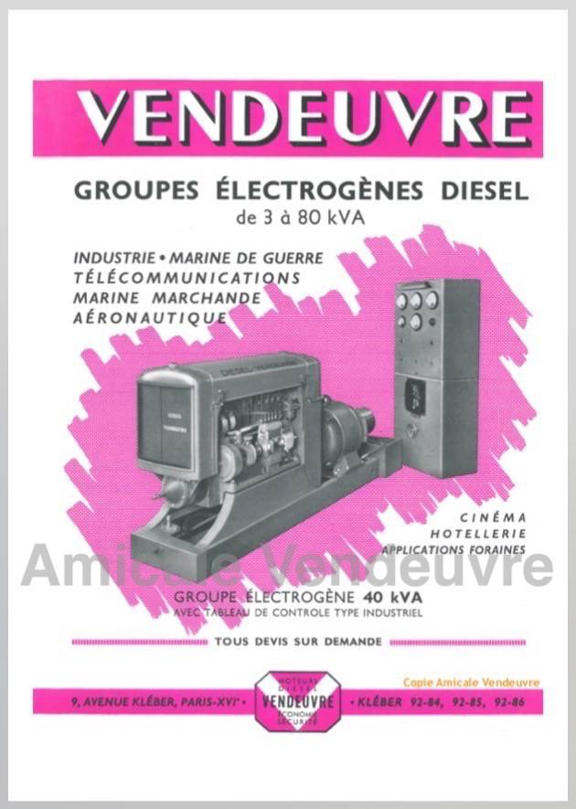 MO 1010 Pdf Documentation groupe 40kV 1953