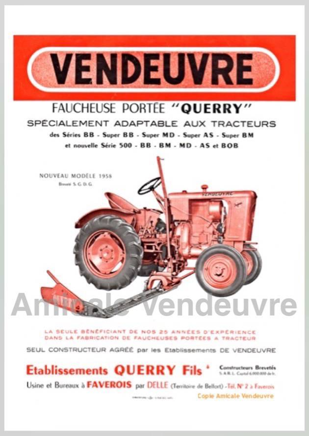 TR 6703 Pdf Documentation faucheuse Querry 1958